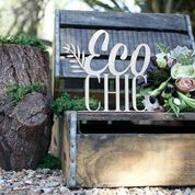 Jade' Customised Events guest styling for Bello Brides magazine in the theme - Eco Chic.